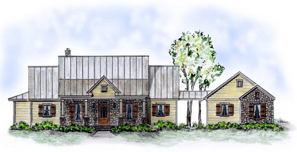 Country House Plan 56512 with 3 Beds, 2 Baths, 2 Car Garage Front Elevation