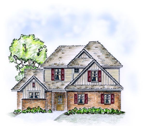 Traditional House Plan 56560 with 3 Beds, 2 Baths, 2 Car Garage Elevation