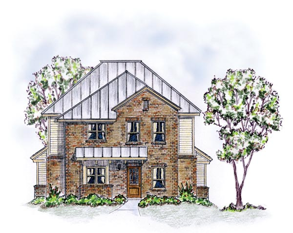 Colonial, Farmhouse, Traditional Multi-Family Plan 56561 with 3 Beds, 6 Baths Elevation