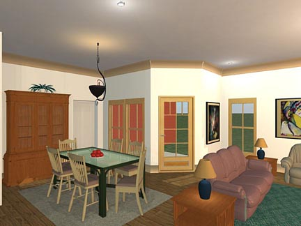 Craftsman, Traditional House Plan 56563 with 3 Beds, 2 Baths, 2 Car Garage Picture 3