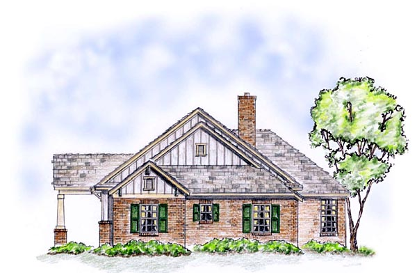 Bungalow, Craftsman, Ranch, Traditional House Plan 56564 with 3 Beds, 2 Baths, 2 Car Garage Picture 2