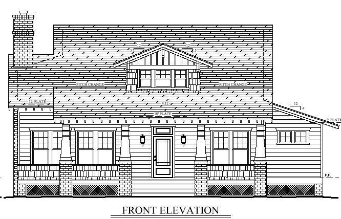Bungalow, Cabin, Cottage, Craftsman House Plan 56574 with 3 Beds, 3 Baths, 2 Car Garage Picture 2