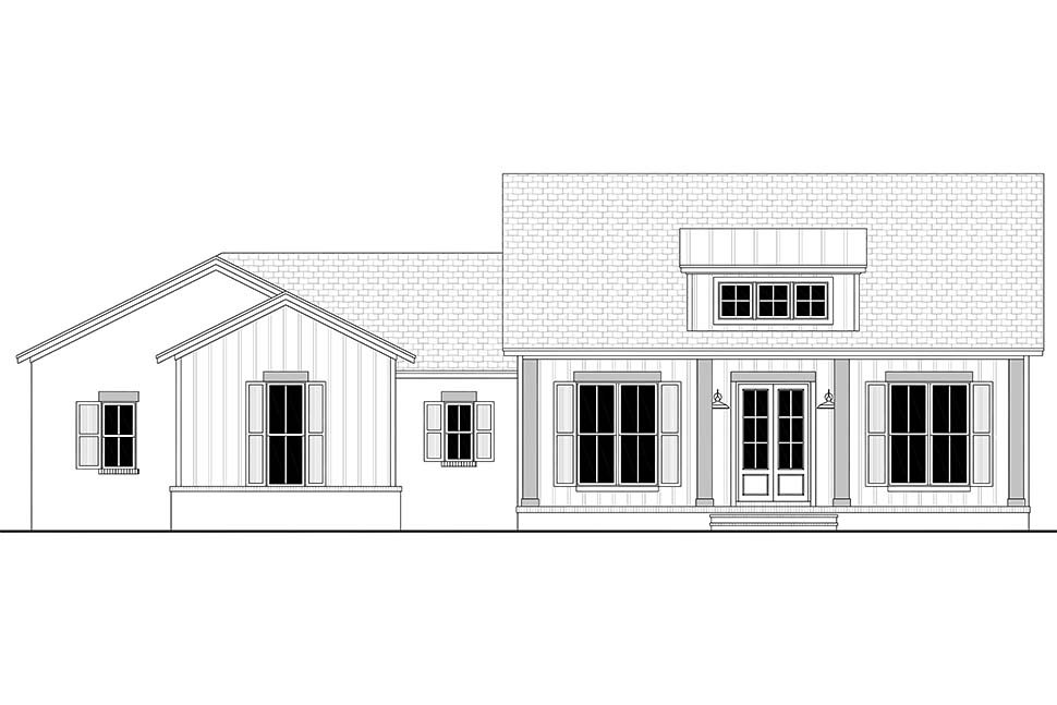 Country, Craftsman, Farmhouse, Traditional Plan with 2044 Sq. Ft., 3 Bedrooms, 3 Bathrooms, 2 Car Garage Picture 4