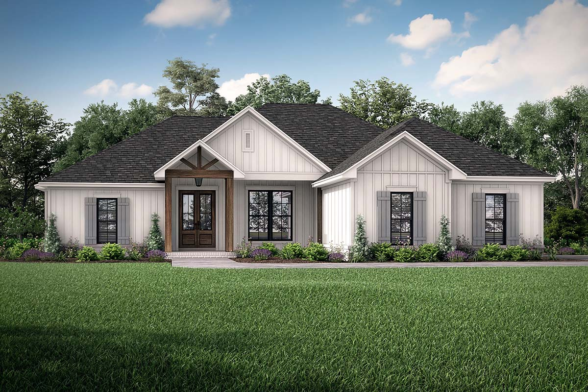 Country, Craftsman, Farmhouse House Plan 56704 with 4 Beds, 2 Baths, 2 Car Garage Front Elevation