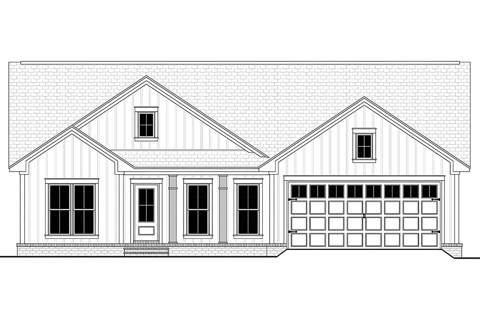Country, Farmhouse, Traditional House Plan 56705 with 3 Beds, 2 Baths, 2 Car Garage Picture 3