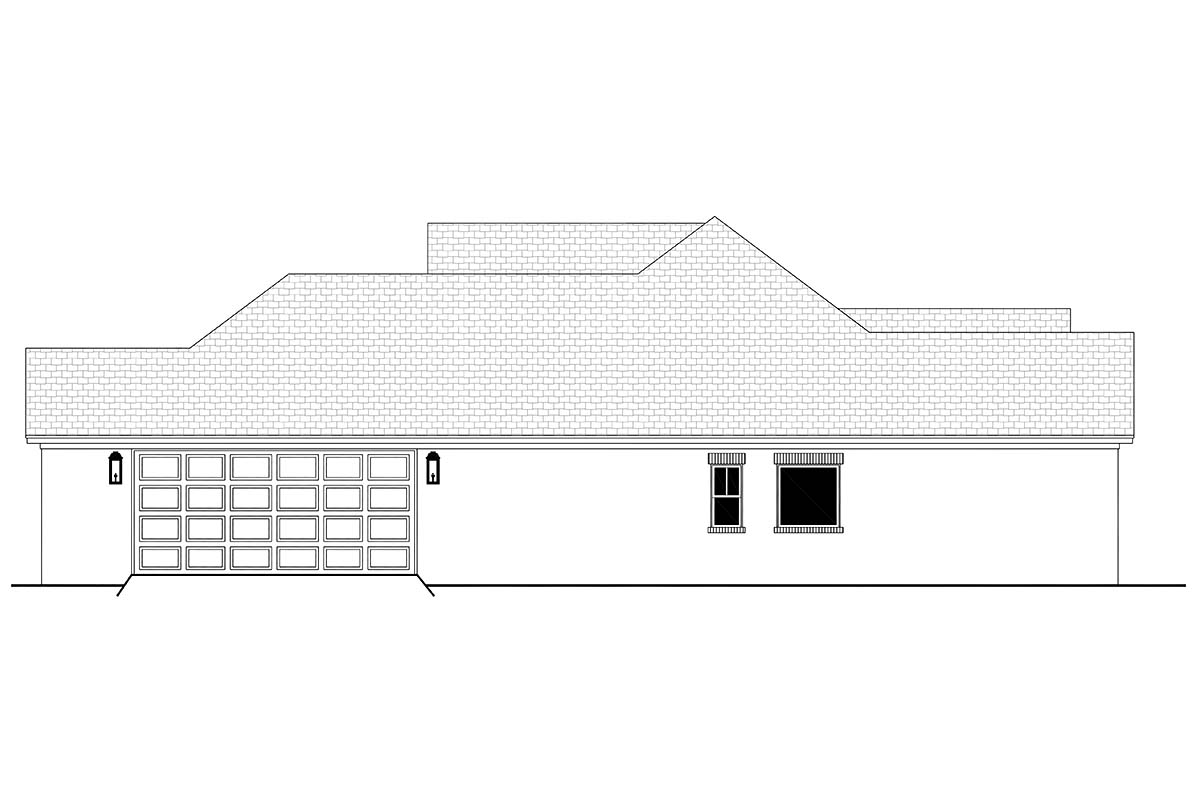Country, French Country, One-Story, Traditional House Plan 56709 with 3 Beds, 2 Baths, 2 Car Garage Picture 1