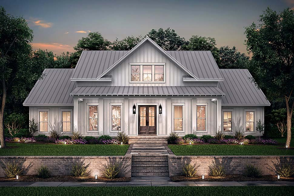 Country, Farmhouse, One-Story, Traditional House Plan 56710 with 4 Beds, 3 Baths, 2 Car Garage Picture 4