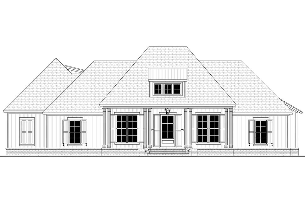 Country, Craftsman, Farmhouse, Southern, Traditional House Plan 56711 with 3 Beds, 3 Baths, 2 Car Garage Picture 3