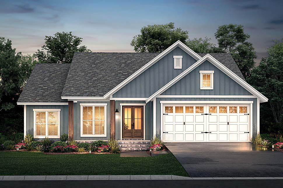 Country, Farmhouse, Southern, Traditional House Plan 56712 with 3 Beds, 2 Baths, 2 Car Garage Picture 4