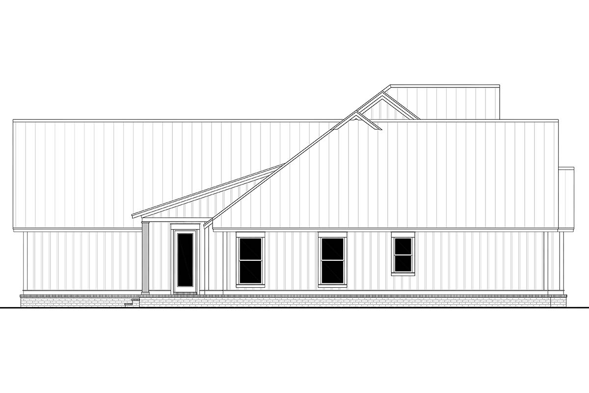 Country, Farmhouse, One-Story, Traditional Plan with 3086 Sq. Ft., 4 Bedrooms, 4 Bathrooms, 3 Car Garage Picture 3