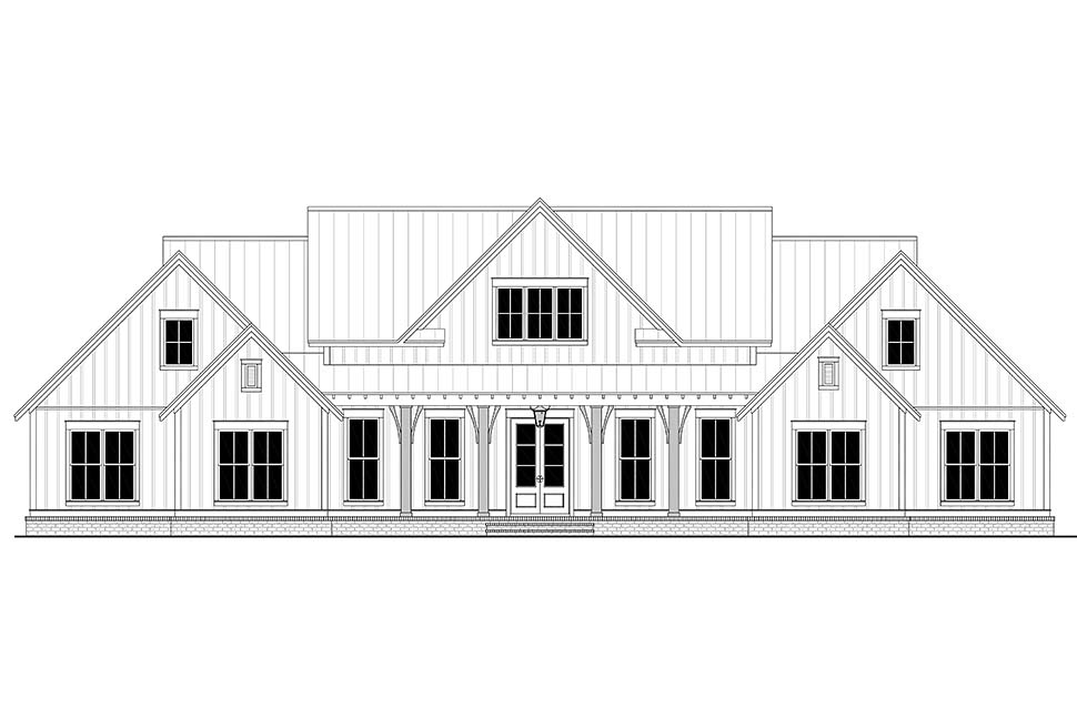 Country, Farmhouse, One-Story, Traditional Plan with 3086 Sq. Ft., 4 Bedrooms, 4 Bathrooms, 3 Car Garage Picture 4