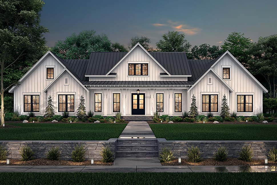 Country, Farmhouse, One-Story, Traditional Plan with 3086 Sq. Ft., 4 Bedrooms, 4 Bathrooms, 3 Car Garage Picture 5