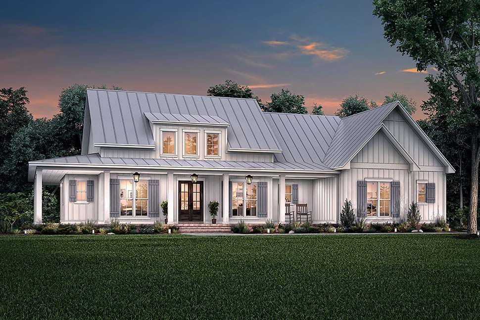 Country, Craftsman, Farmhouse House Plan 56717 with 3 Beds, 3 Baths, 2 Car Garage Picture 4