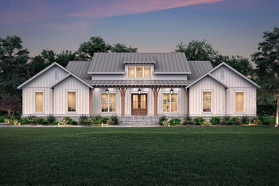 Country, Farmhouse, Southern, Traditional House Plan 56718 with 3 Beds, 3 Baths, 2 Car Garage Picture 4