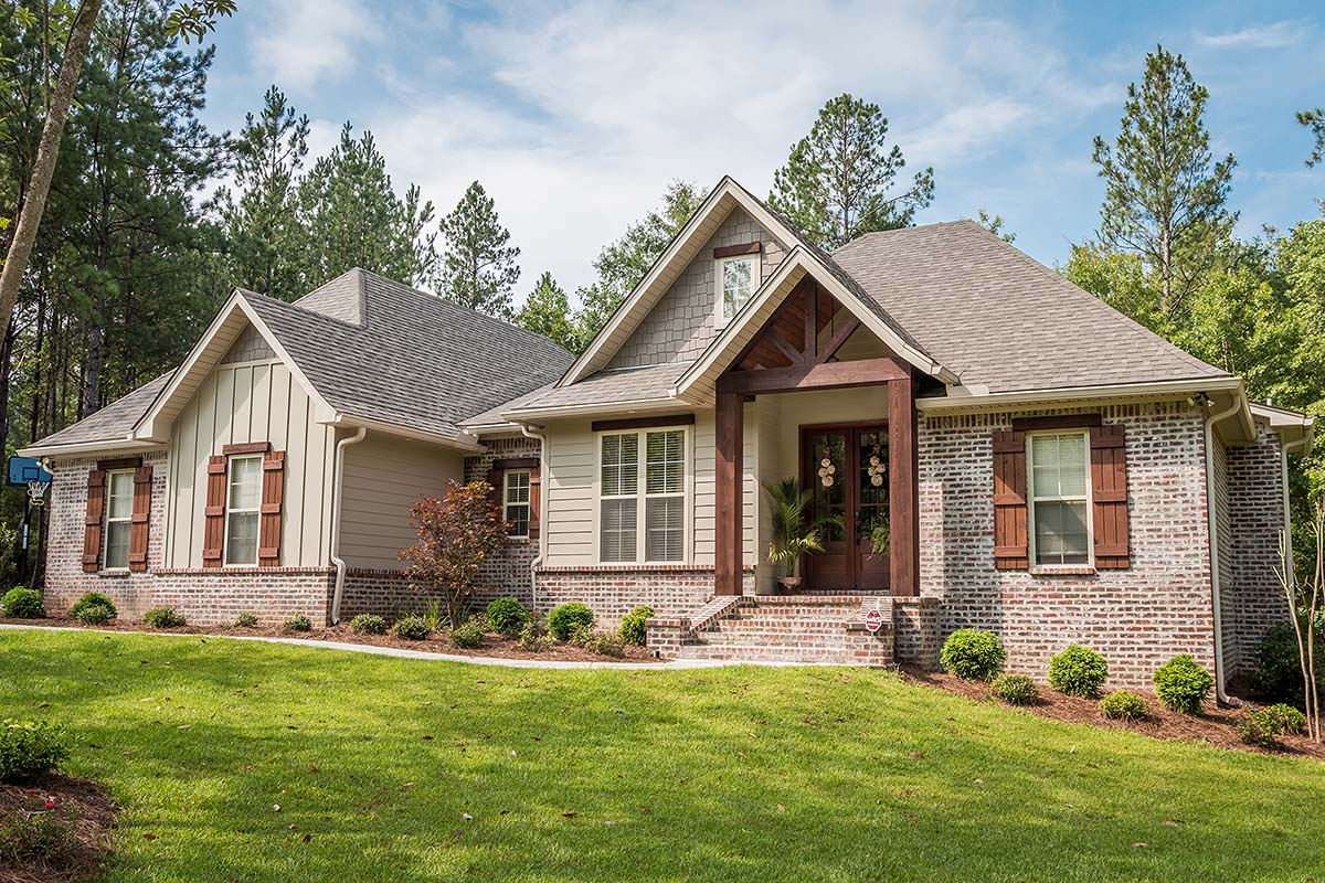 Country, Craftsman, Traditional House Plan 56903 with 3 Beds, 2 Baths, 2 Car Garage Front Elevation