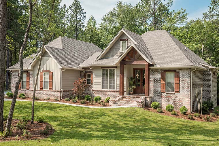 Country, Craftsman, Traditional House Plan 56903 with 3 Beds, 2 Baths, 2 Car Garage Picture 1