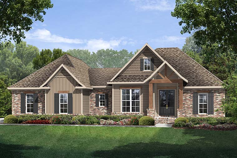 Country, Craftsman, Traditional House Plan 56903 with 3 Beds, 2 Baths, 2 Car Garage Picture 5