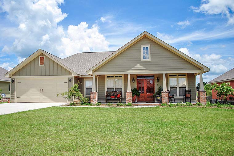 Country, Craftsman, Southern, Traditional House Plan 56905 with 3 Beds, 2 Baths, 2 Car Garage Elevation