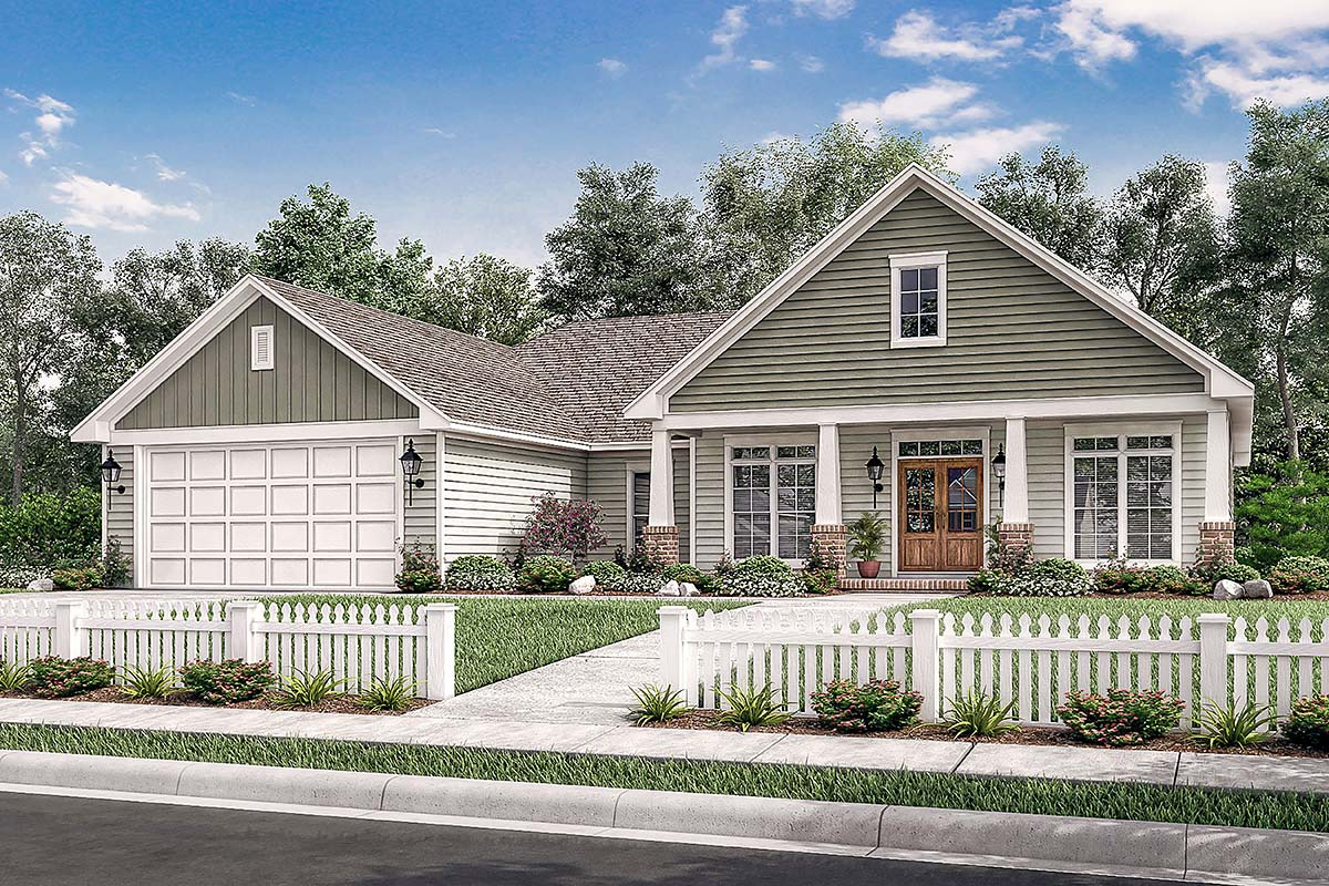 Country, Craftsman, Southern, Traditional House Plan 56905 with 3 Beds, 2 Baths, 2 Car Garage Picture 1