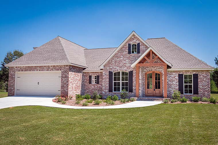 French Country, Traditional House Plan 56906 with 3 Beds, 2 Baths, 2 Car Garage Front Elevation