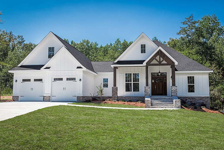 Country, Craftsman, Southern, Traditional House Plan 56911 with 3 Beds, 2 Baths, 2 Car Garage Picture 1