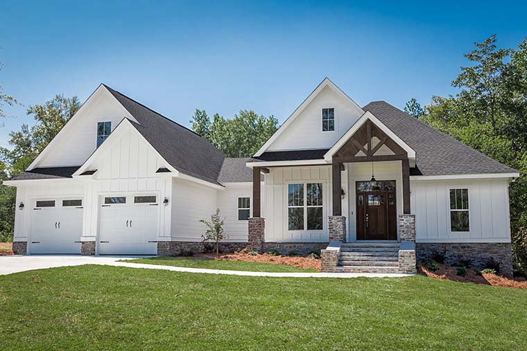 Country, Craftsman, Southern, Traditional House Plan 56911 with 3 Beds, 2 Baths, 2 Car Garage Picture 2