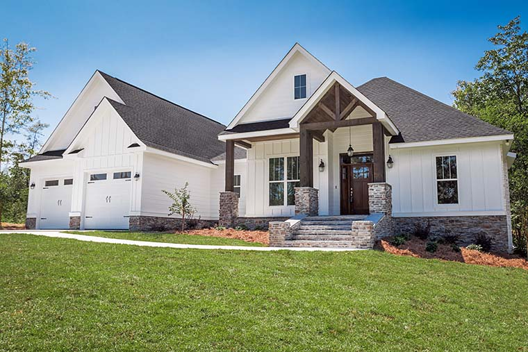 Country, Craftsman, Southern, Traditional House Plan 56911 with 3 Beds, 2 Baths, 2 Car Garage Picture 3