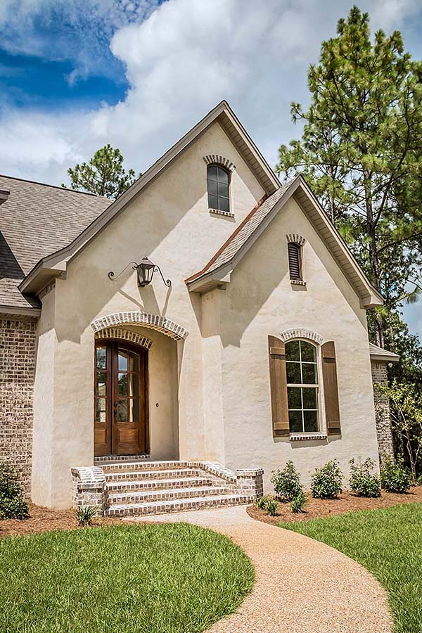 European, French Country, Southern, Traditional House Plan 56918 with 4 Beds, 3 Baths, 2 Car Garage Picture 1