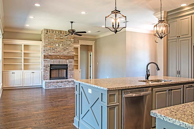 European, French Country, Southern, Traditional House Plan 56918 with 4 Beds, 3 Baths, 2 Car Garage Picture 3
