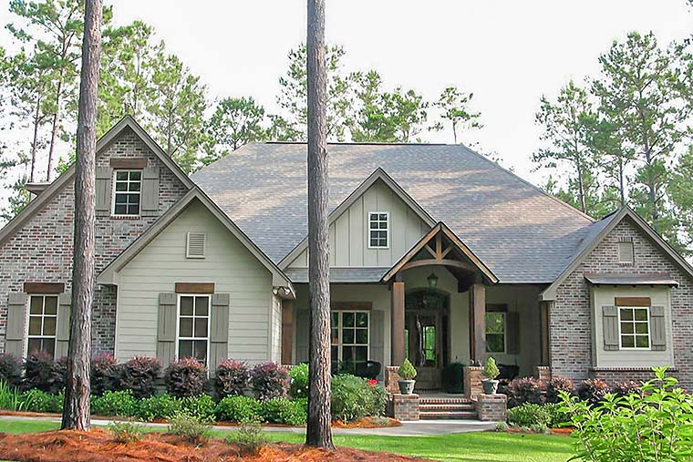 Country, Craftsman, Traditional House Plan 56922 with 3 Beds, 3 Baths, 2 Car Garage Picture 1