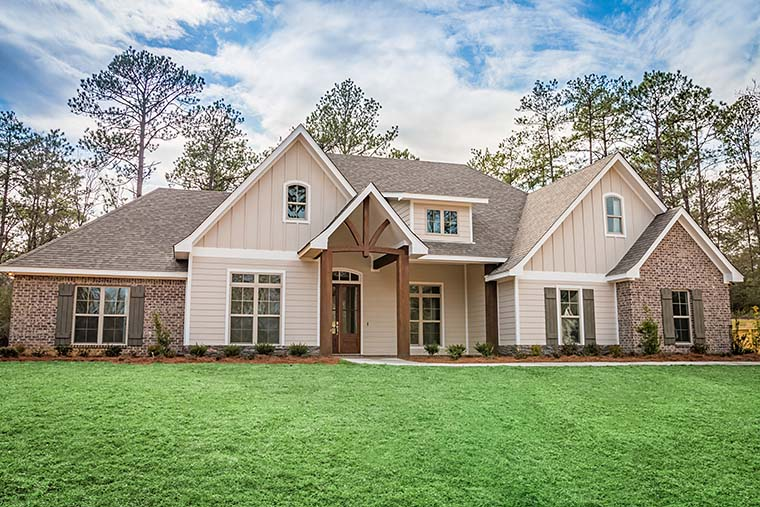 Country, Craftsman, Traditional House Plan 56924 with 4 Beds, 3 Baths, 2 Car Garage Picture 1