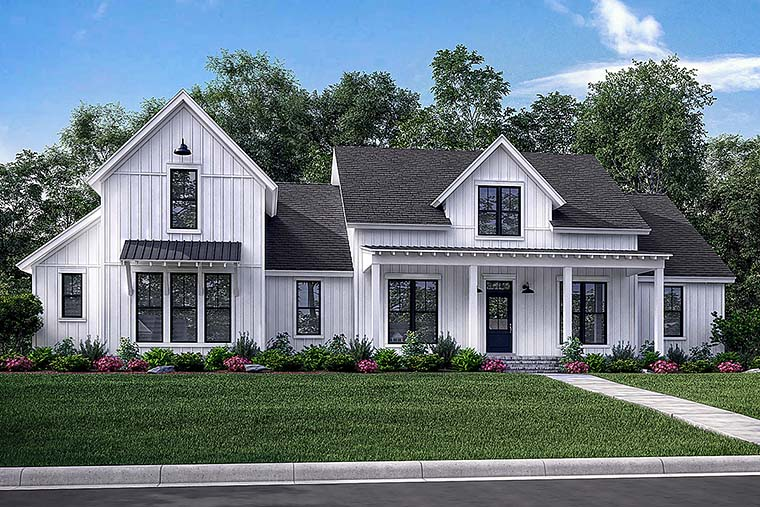 Cottage, Country, Farmhouse, Southern House Plan 56926 with 4 Beds, 4 Baths, 2 Car Garage Elevation