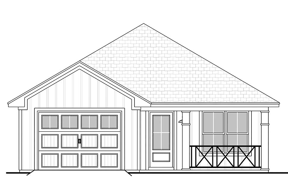 Country, Ranch, Traditional House Plan 56936 with 3 Beds, 2 Baths, 1 Car Garage Picture 3