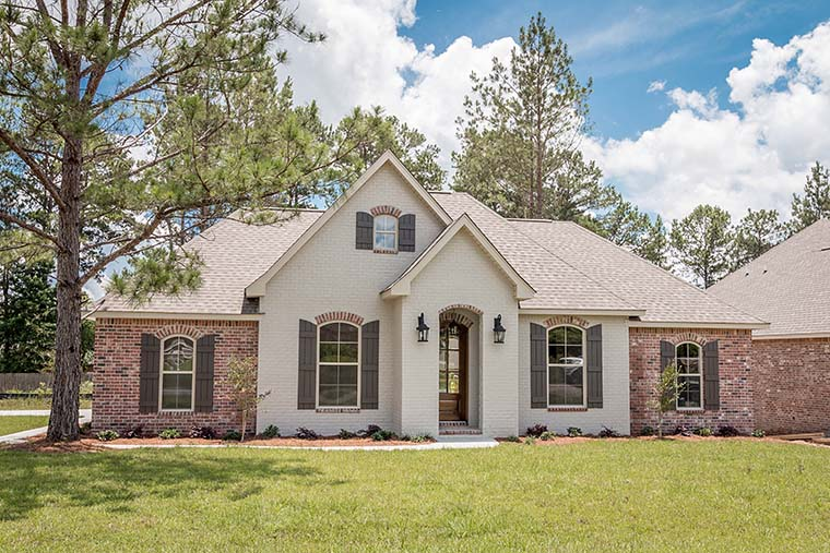 European, French Country, Traditional House Plan 56982 with 3 Beds, 2 Baths, 2 Car Garage Picture 1