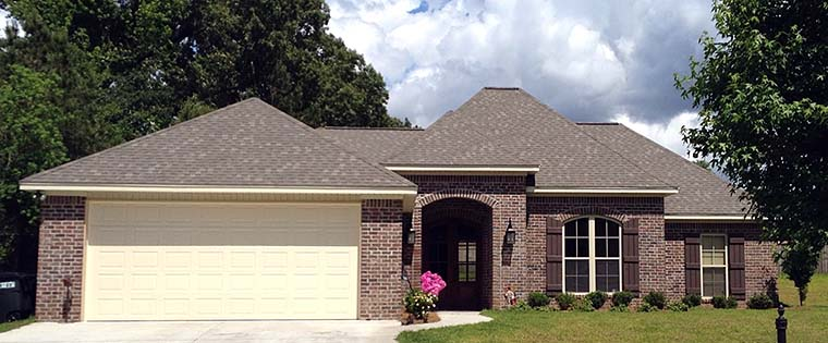 Country, European, French Country House Plan 56983 with 4 Beds, 2 Baths, 2 Car Garage Elevation