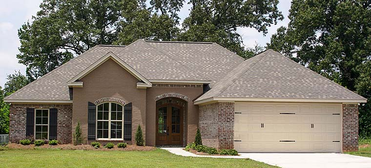 Country, French Country House Plan 56988 with 4 Beds, 2 Baths, 2 Car Garage Elevation