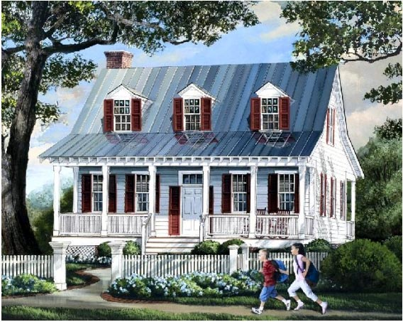 Cottage, Country, Farmhouse House Plan 57063 with 3 Beds, 3 Baths Front Elevation