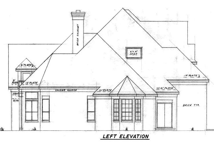 European House Plan 57206 with 4 Beds, 4 Baths, 3 Car Garage Picture 1