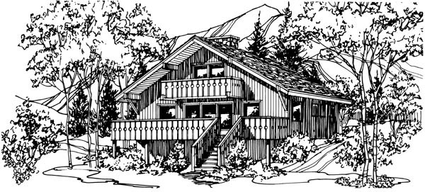 House Plan 57548 with 3 Beds, 2 Baths Front Elevation