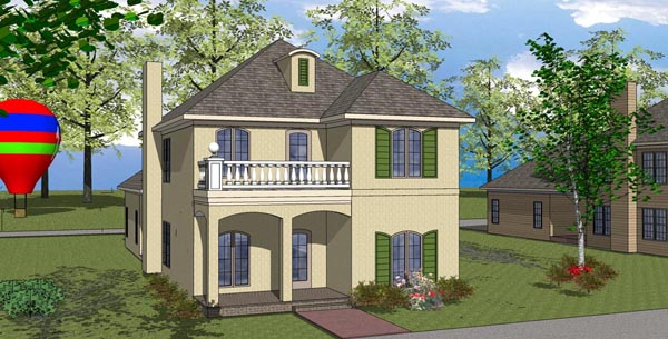Colonial, Southern House Plan 57870 with 3 Beds, 3 Baths, 2 Car Garage Elevation