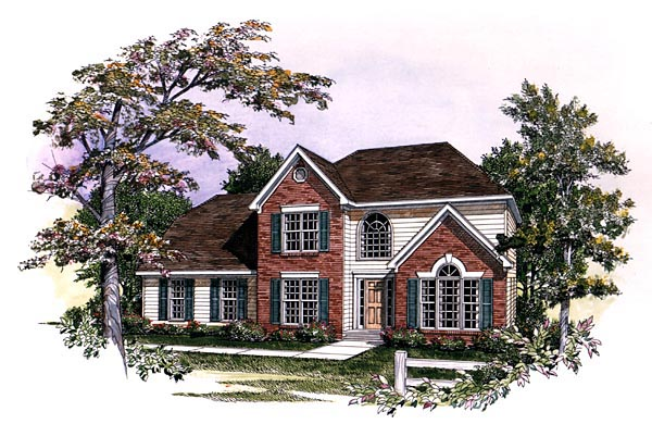 Traditional House Plan 58120 with 4 Beds, 3 Baths, 2 Car Garage Elevation
