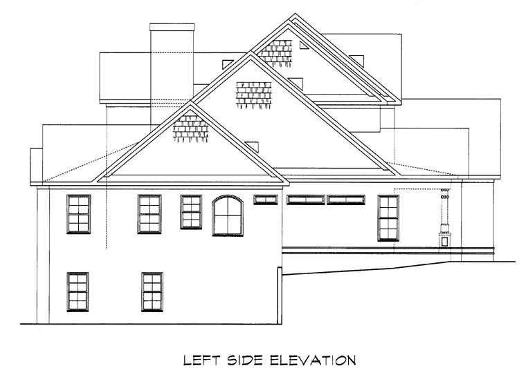 Craftsman House Plan 58201 with 4 Beds, 4 Baths, 2 Car Garage Picture 1
