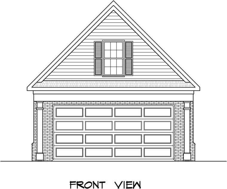 2 Car Garage Plan 58243 Elevation