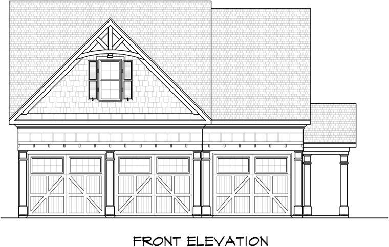 3 Car Garage Plan 58246 Front Elevation