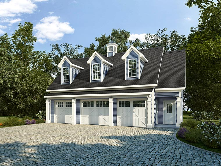 Garage-Living Plan 58248
