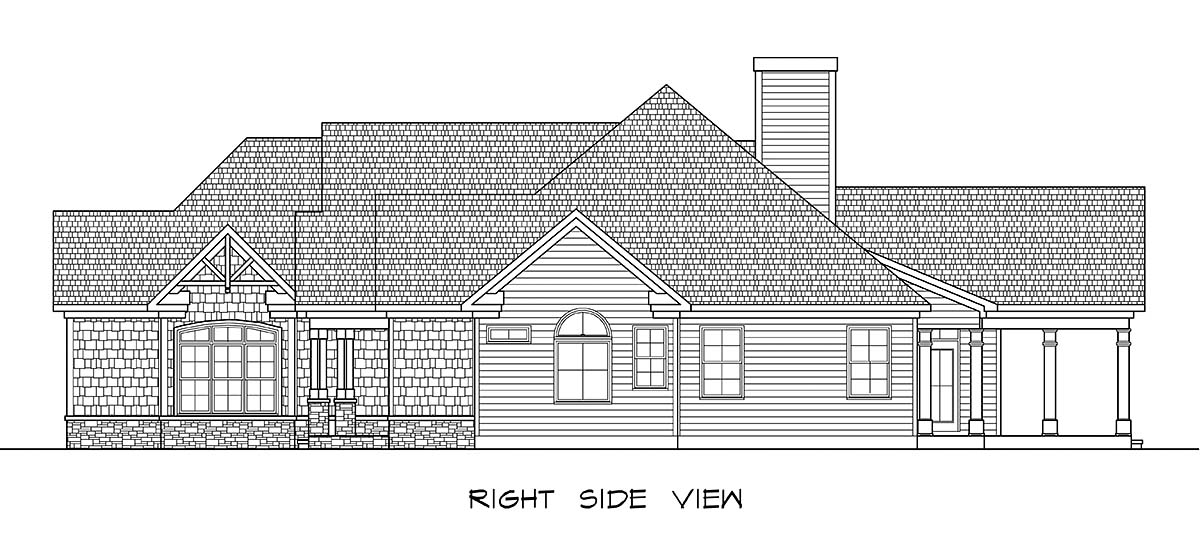 Craftsman House Plan 58257 with 3 Beds, 4 Baths, 2 Car Garage Picture 1