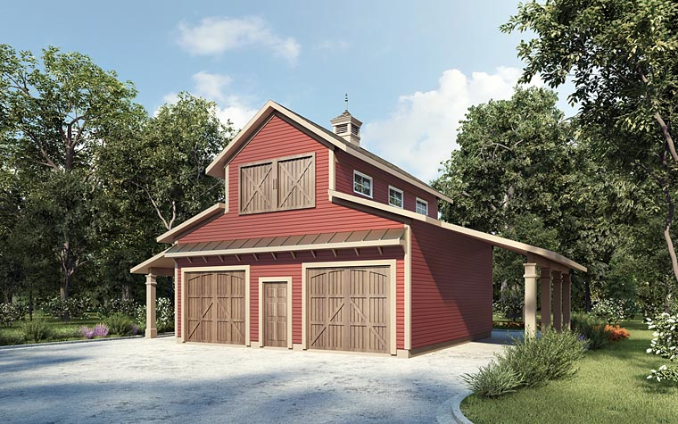 2 Car Garage Plan 58286 Elevation