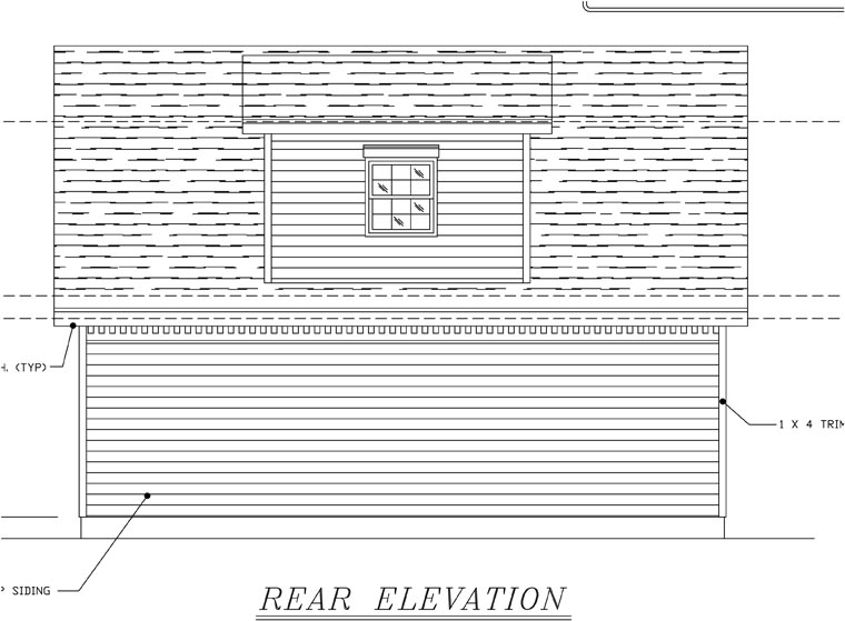 Colonial 2 Car Garage Plan 58417 Rear Elevation