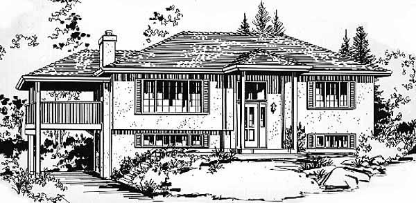 European House Plan 58858 with 2 Beds, 2 Baths, 1 Car Garage Elevation
