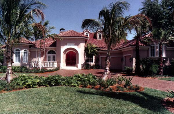 Florida Plan with 3873 Sq. Ft., 4 Bedrooms, 5 Bathrooms, 3 Car Garage Elevation
